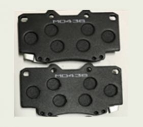 SEMI-METALLIC BRAKE PADS MADE OF A MIX OF PLASTIC, CERAMIC AND